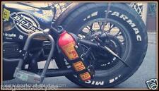 Support en cuir porte bouteille réserve d'essence (pour sportster forty harley )