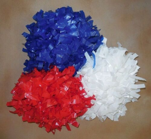 """NEW YOUTH POMS 6/"""" X 1//2/"""" Plastic Strands Solid Dowel Handle Red"""