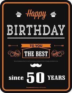 Das Bild Wird Geladen Blechschild Happy Birthday Since 50 YEARS 1968 Geburtstag