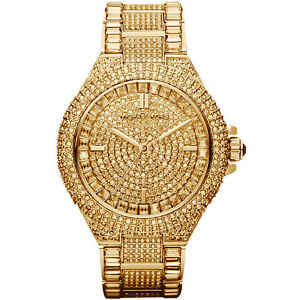 New michael kors camille gold pave dial crystal encrusted mk5720 image is loading new michael kors camille gold pave dial crystal gumiabroncs Choice Image