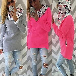 Fashion-Women-Hoodies-Hooded-Sweatshirt-Pocket-Pullover-T-shirt-Jumper-Tops-Coat