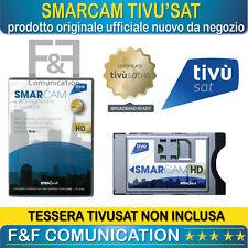 CAM HD TIVU'SAT MODULO DECODER E TV TIVU SAT HD CERTIFICATA UNIVERSALE TV LED