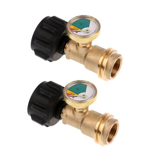 2Pc Propane Tank Gauge Gas Level Indicator Adapter Pressure Meter BBQ Grills