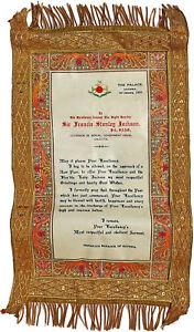 1923-Hathwa-Palace-MAHARAJAH-SIGNED-ROYAL-DOCUMENT-Calcutta-Governor-Jackson