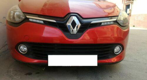Pour Renault Clio IV 4 2012-2014 2tlg anti-brouillard Cadre en acier inoxydable