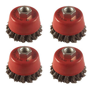 Wire Brushes 115mm Cup & Bevel Brush Angle Grinder 4-1/2 Twist Knot Home, Furniture & DIY