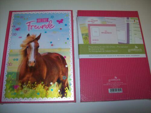 Freundebuch Meine Freunde mit 3D Effekt Pferd Pferde