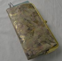 Hobo International Metallic Starburst Lauren Double Frame Clutch Wallet