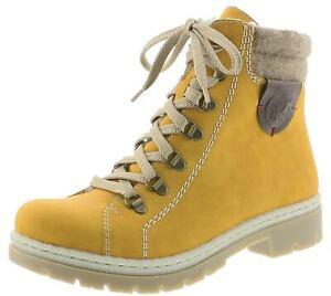 Details zu rieker Damen Winterstiefel Gelb Schuhe