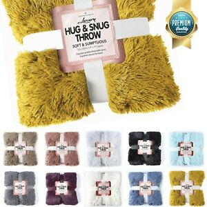 Luxury Mink Hug & Snug Large Throw Super Soft Warm Cosy Blanket Bed Sofa Comfort