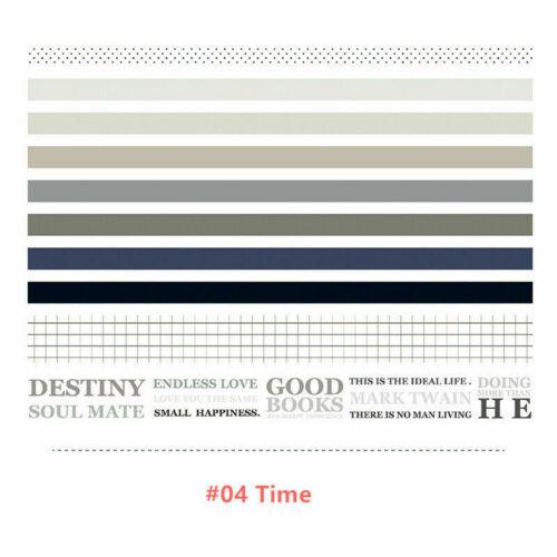 10PCS//Set Paper Washi Tape DIY Adhesive Scrapbooking Sticker Label Decorative