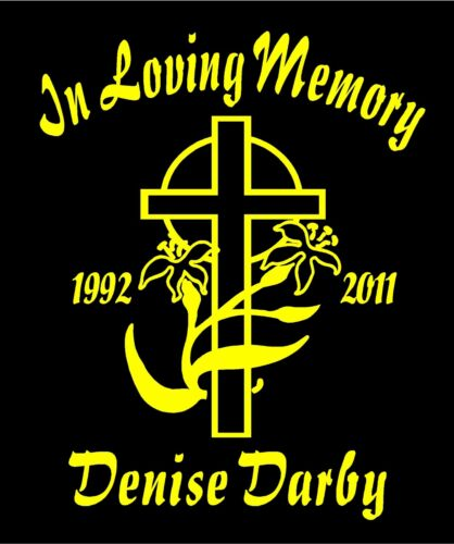 In Loving Memory Of Decals Easter Lily Cross Name Date Custom Car Vinyl Sticker