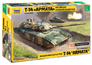 Russian Military Tank T-14 Armato-1 35 Military Model Kit - Zvezda 3670