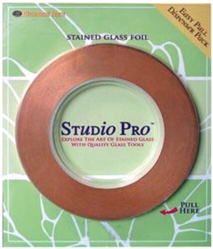 7//32 black backed Studio Pro copper foil stained glass