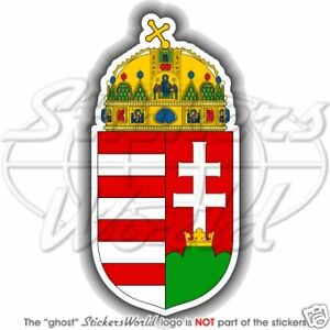 Details about HUNGARY, Hungarian Coat of Arms, Magyar National Emblem  Bumper Sticker Decal