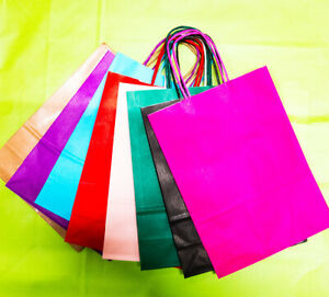 Large Luxury Bags Paper Party Bags Kraft Paper Gift Bag Twisted Handles Loot Bag