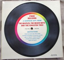 "THE BEATLES  RARE CAPITOL 7"" FLEXI TRIFOLD PROMO Record Club Only Limited"