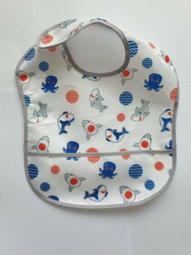 Baby Toddler Essuyez Combinaison bavoir et tapis de sol Imperméable Repas Temps No Mess