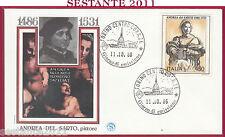 ITALIA FDC FILAGRANO ANDREA DEL SARTO PITTORE 1986 ANNULLO TORINO Y460