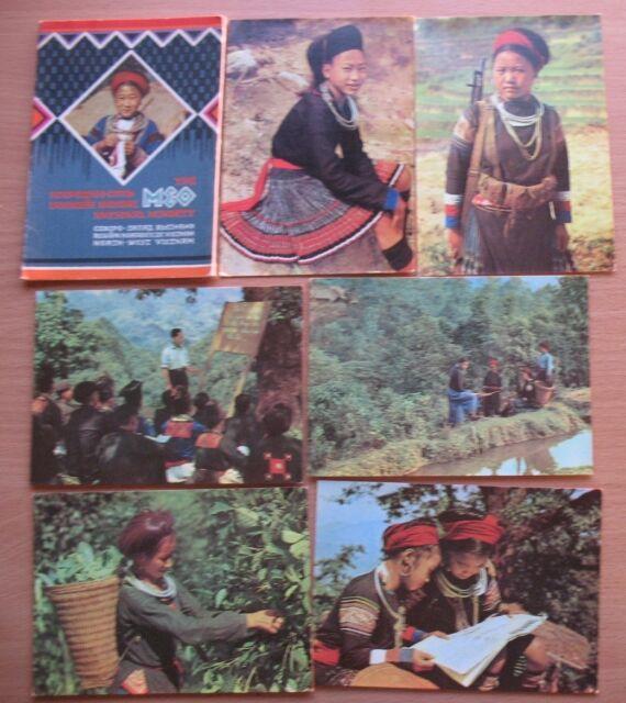 10 POSTCARD VIETNAM WAR Propaganda Rifle GUN Military Woman Meo Vintage People