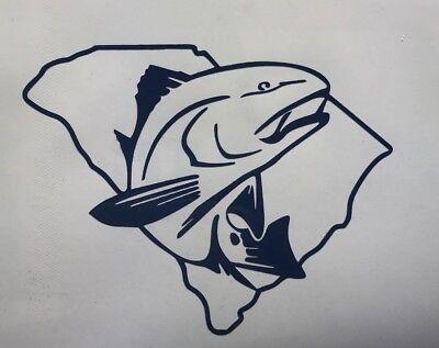 "Redfish South Carolina Decal 3.5/"" 4.5/"" 5.5/"" Red Drum Low Country Fishing Salt"