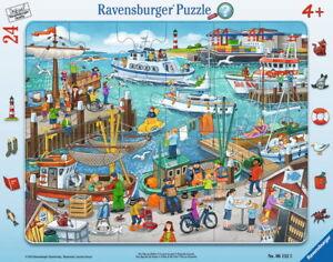 24 Teile Ravensburger Kinder Rahmen Puzzle Ein Tag am Hafen 06152