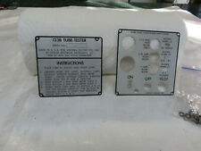 Hickok 123b Tube Tester Id Plate Part Only
