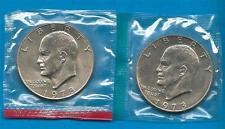 1973 P and D Eisenhower Dollars in mint cellos 2 Bu Coins