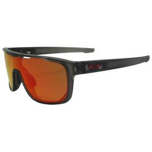 0f1f60957 Oakley OO 9387-0431 CROSSRANGE SHIELD Matte Grey Smoke Prizm Ruby ...