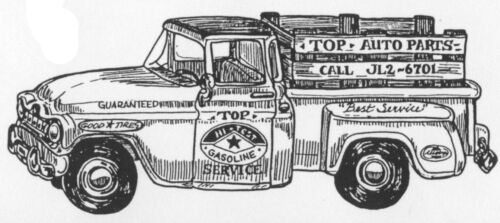 Wood Mounted Rubber Stamps Trucks Vintage Pick Up Truck Father/'s Day Men