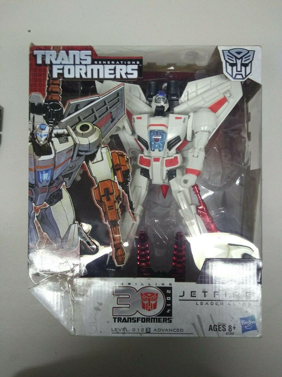Transformers generations jetfire used w box parts missing