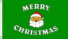 5' x 3' Green Merry Christmas Flag Santa Farther Xmas Party Flags Banner