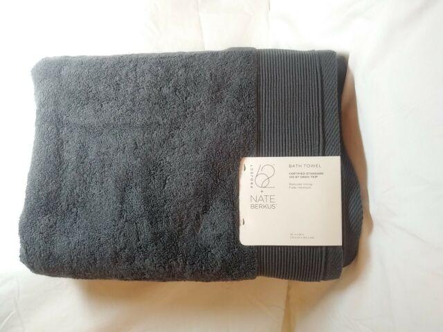 "Solid Bath Towel Railroad Gray Nate Berkus: 30/""x56/"" Project 62 NEW!!!"