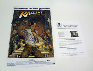 John-Williams-Signed-Autograph-Indiana-Jones-Movie-Poster-Beckett-BAS-COA