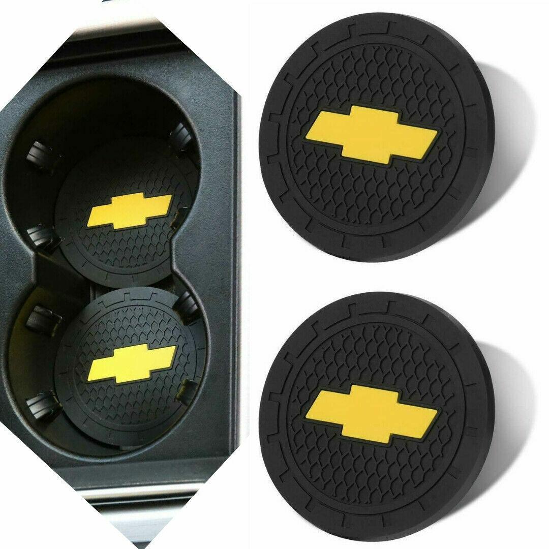 Chevy Chevrolet Accessories Car Logo Round Cup Holder Coaster Insert Universal