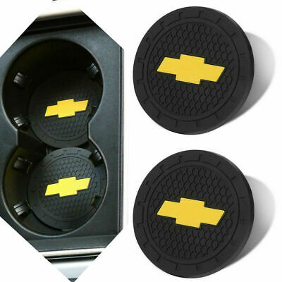 Insert Coaster Anti Slip Cup Mat For Car Interior Accessories 2PC 2.75 Inch Vehicle Auto Cup Holder For BMW