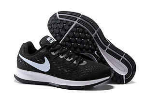 Image is loading Nike-Air-Zoom-Pegasus-34-Black-White-Size- 86cb22059e28