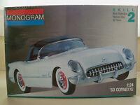 Monogram 1953 '53 Corvette Convertible 1 24 Plastic Model Kit NEW in shrinkwrap Toys