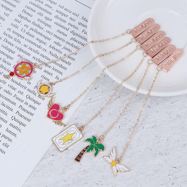 Kawaii Bookmarks Pendant Book Markers Metal Bookmarks School Office Supplies  !Q