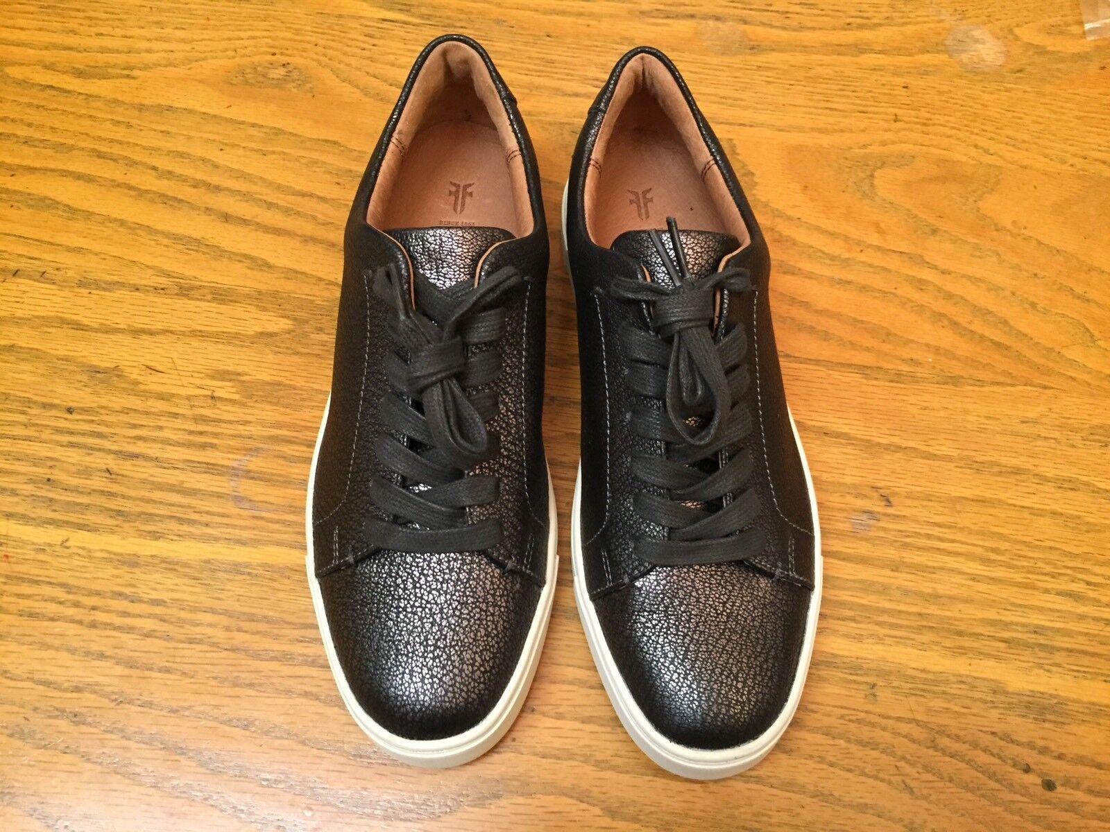 Frye Ivy Estaño Cuero Con Cordones Mujer Zapatos Tenis Nuevas