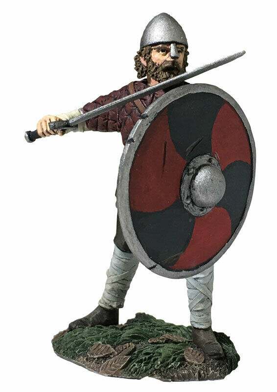 "BRITAINS SOLDIER SOLDIER SOLDIER 62120 - ""Hereward"" Saxon Pushing With Shield 5b6936"