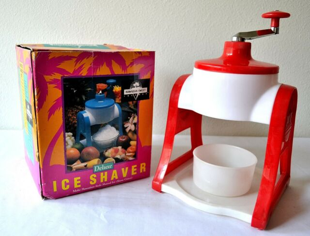 ICE SHAVER Machine HAWAIIAN SWEET ISLANDS Shaved Ice Fluffy SNOW CONE Incomplete