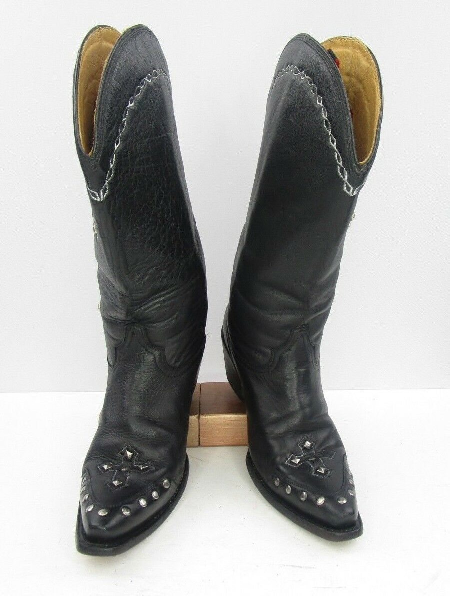 Ladies Corral Size With Studded Crossed Detail Cowgirl Boots Size Corral :8.5 M 95e1c4