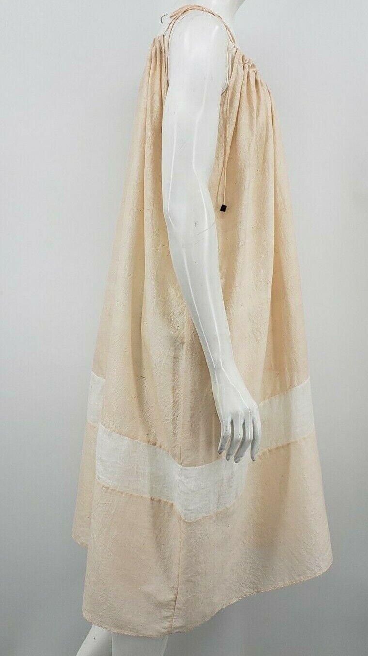 Pondicherie Sita Tie Dress One Size Blush Silk Or… - image 3