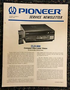Pioneer-Model-cld-900-Compact-Disc-Player-1985-original-Service-Newsletter