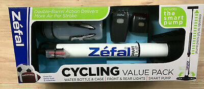 Safety Lights Bike Water Bottle Zefal Cycling Value Pack and Pump NIB Cage