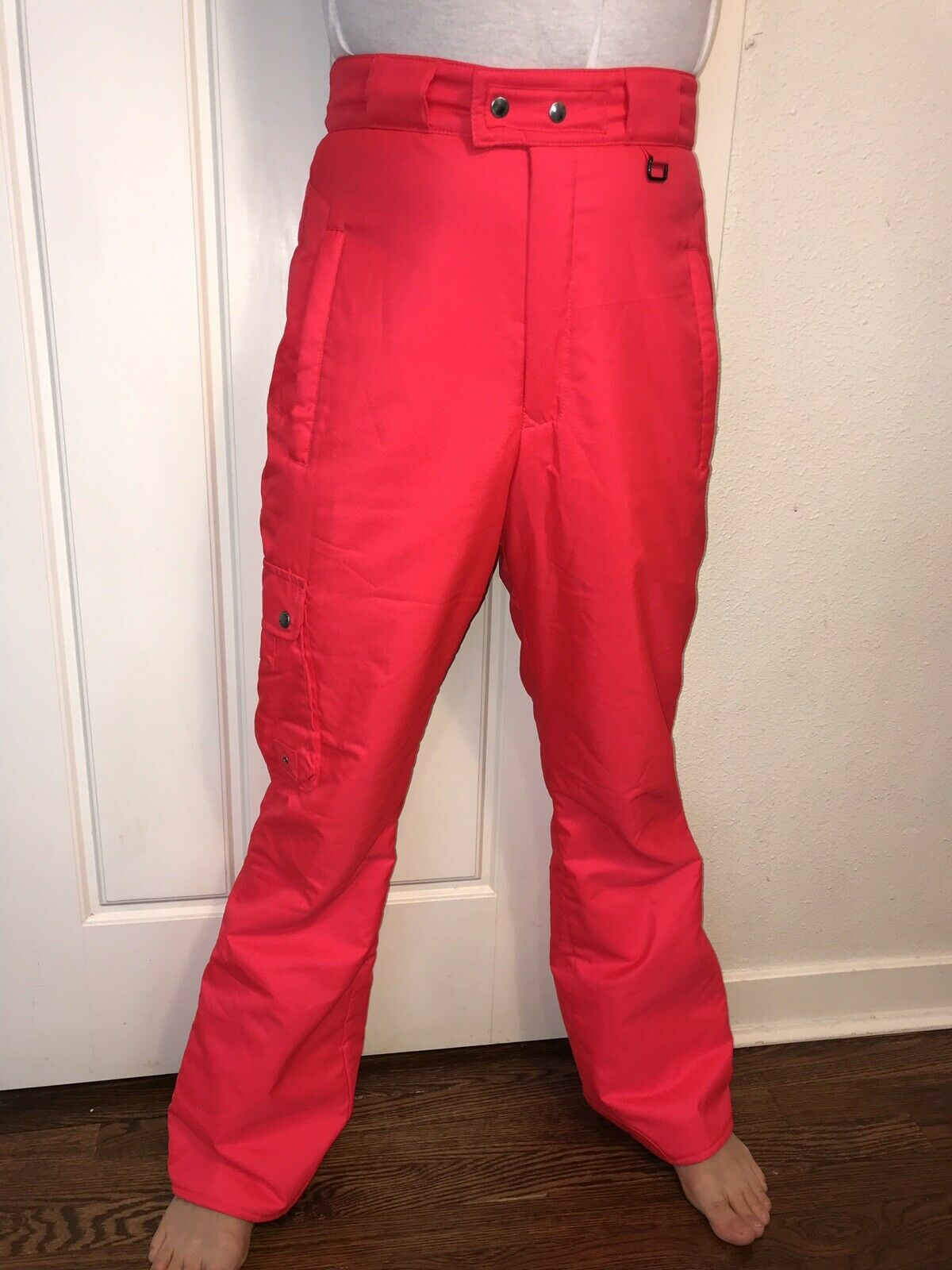 Vtg 80s 90s Infrared Neon OBERMEYER Terrain Ski  Pants Mens MEDIUM Snow bib suit  80% off