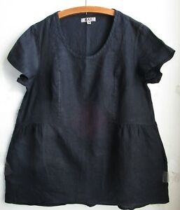 FLAX-LINEN-Bold-Tunic-M-NWT-Play-In-It-BLACK