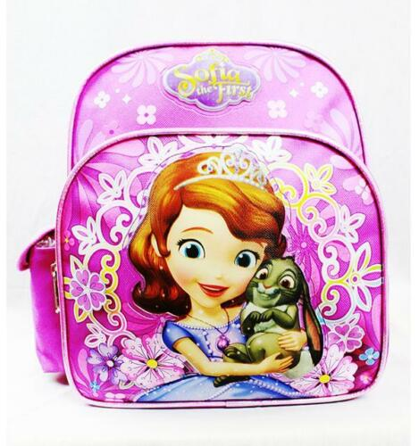 "NWT Sofia the First 10/"" Mini Backpack School Bag for Toddlers by Disney New!!"