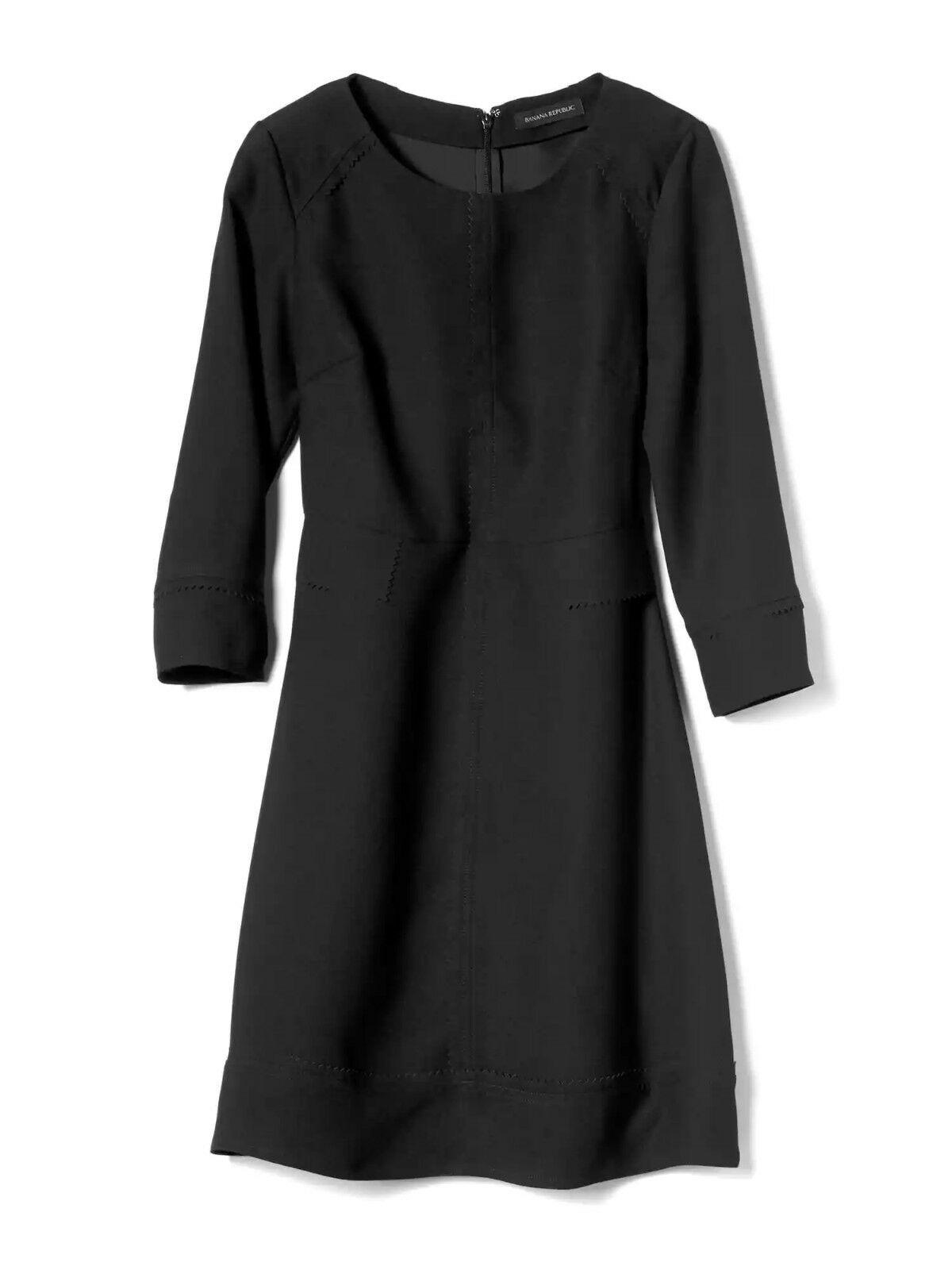 NWT Banana Republic Laser Cut Detailed Dress, schwarz Größe 12   v